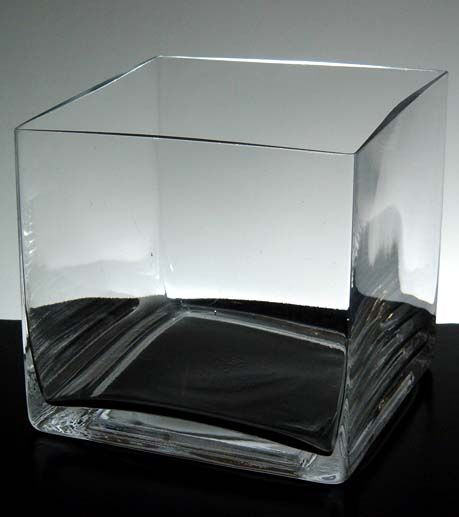 Richland Square Glass Cube Vase 5 Wedding Fun Pinterest