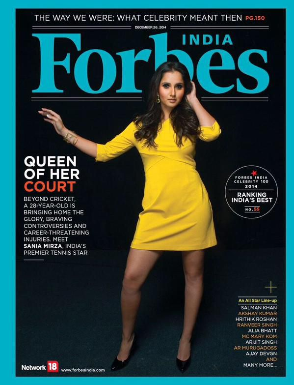 12/22/14 SANIA MIRZA GRACES COVER OF FORBES INDIA ...  Indian megastar Sania Mirza takes part in a stunning cover shoot for Forbes India magazine.