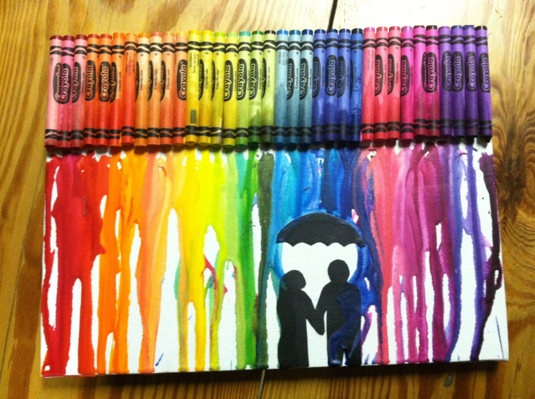 Crayon Art My Boyfriend Made For Me For Our 1