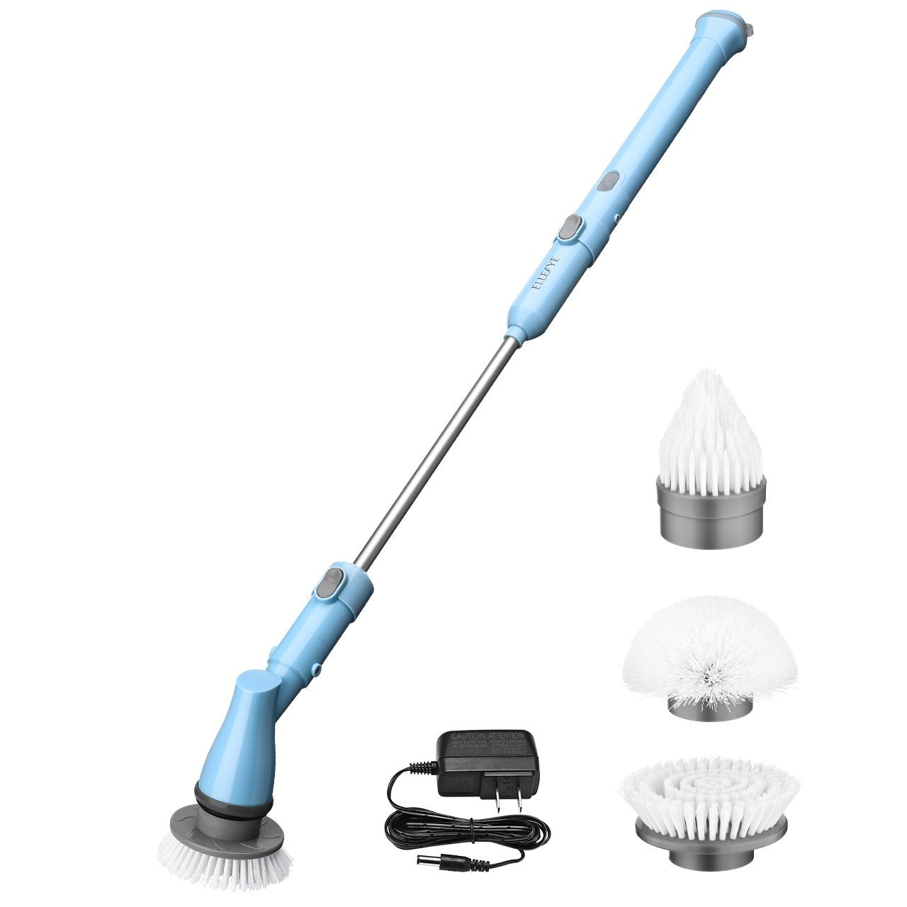 Electric Spin Scrubber, ELLESYE Power Cordless Scrubber Rechargeable ...