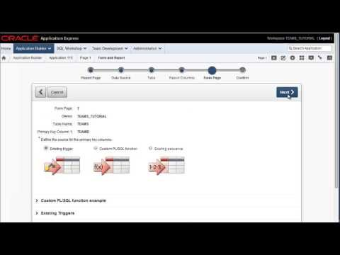 Oracle APEX 4 2 4 Tutorial (10 of 22) - Forms and reports on a table