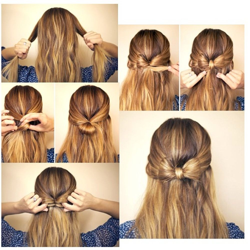 How To Make A Bow In Your Hair I Think I Will Do This Tomorrow Hair Tutorial Bow Hairstyle Hair Styles