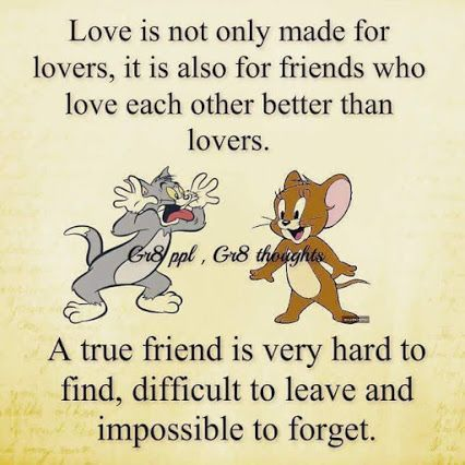 Tom And Jerry True Friend Fine True Friends Friendship Quotes