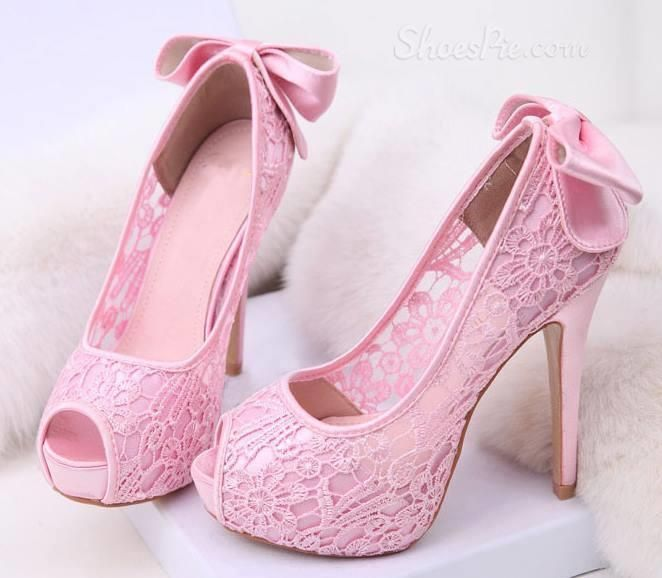 Attractive Lace Bowknot Peep-Toe Women Sandals