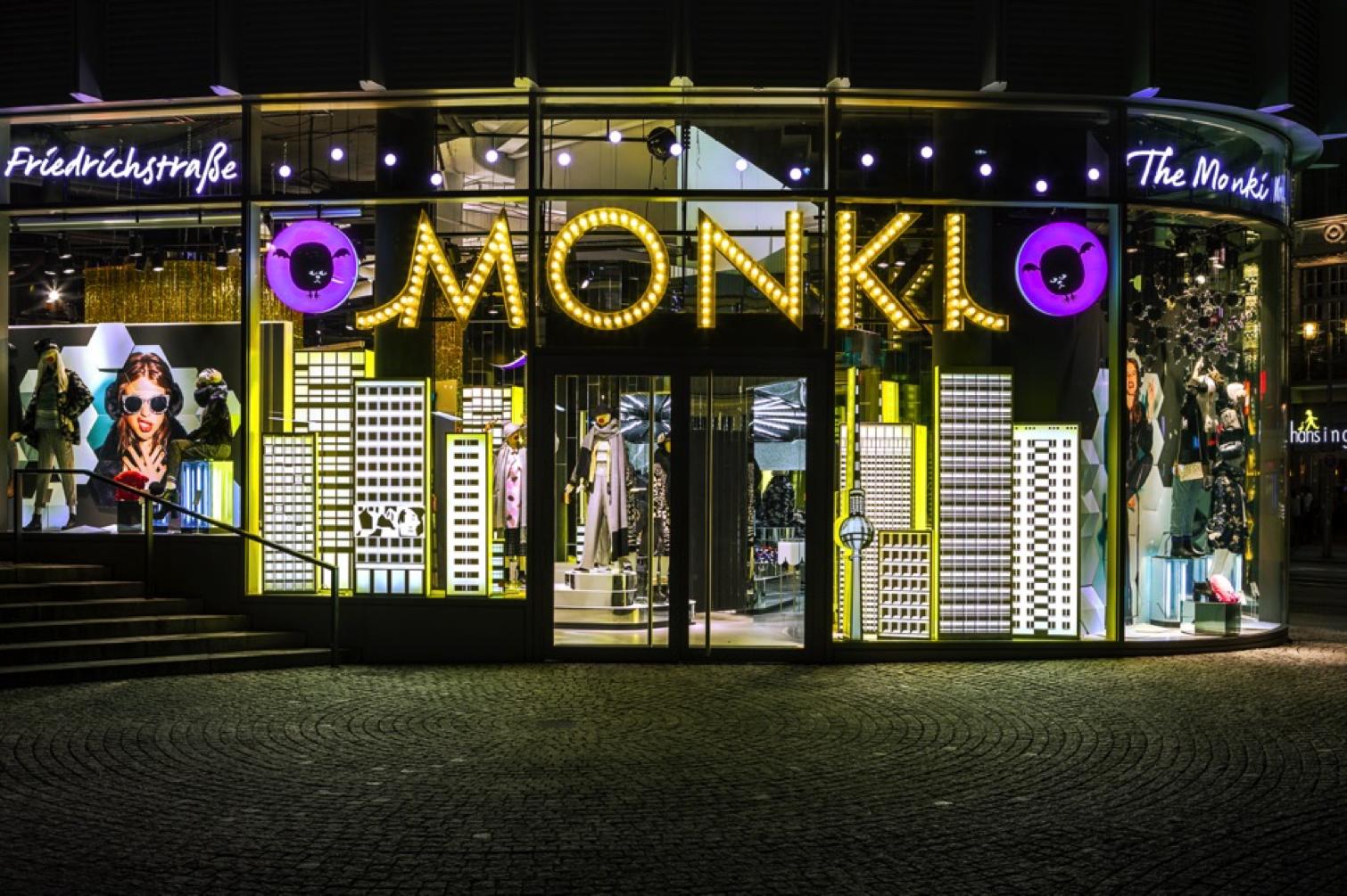 Monki Friedrichstrasse Berlin Retail Signage Monki Store Pop Up Shop