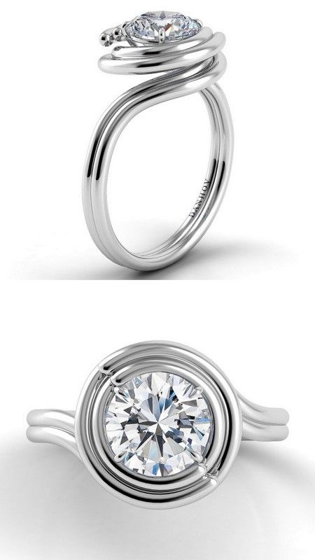 Unique Engagement Rings And Wedding Bands By Danhov Unique Engagement Rings Engagement Rings Flower Engagement Ring