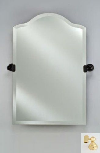 Afina Corporation Rm735br 24x35 Scallop Top Frameless Mirror With