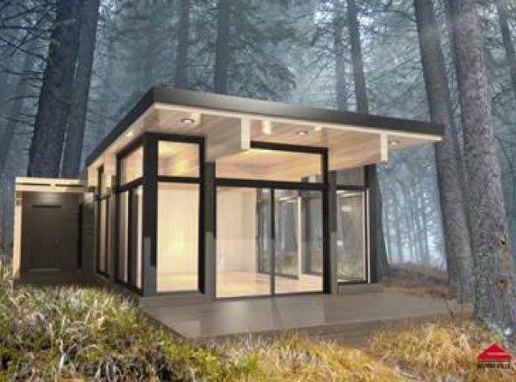 Maisons usin es lofts modulaires et bien plus encore tiny homes pinterest maison mini for Mini maison usinee