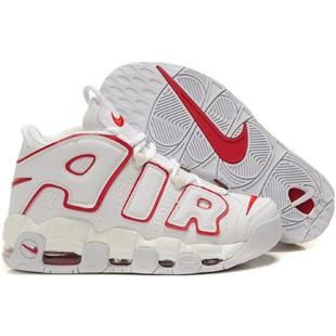 Discount Nike Air More Uptempo Scottie Pippen Shoes White/Red Basketball  Shoes