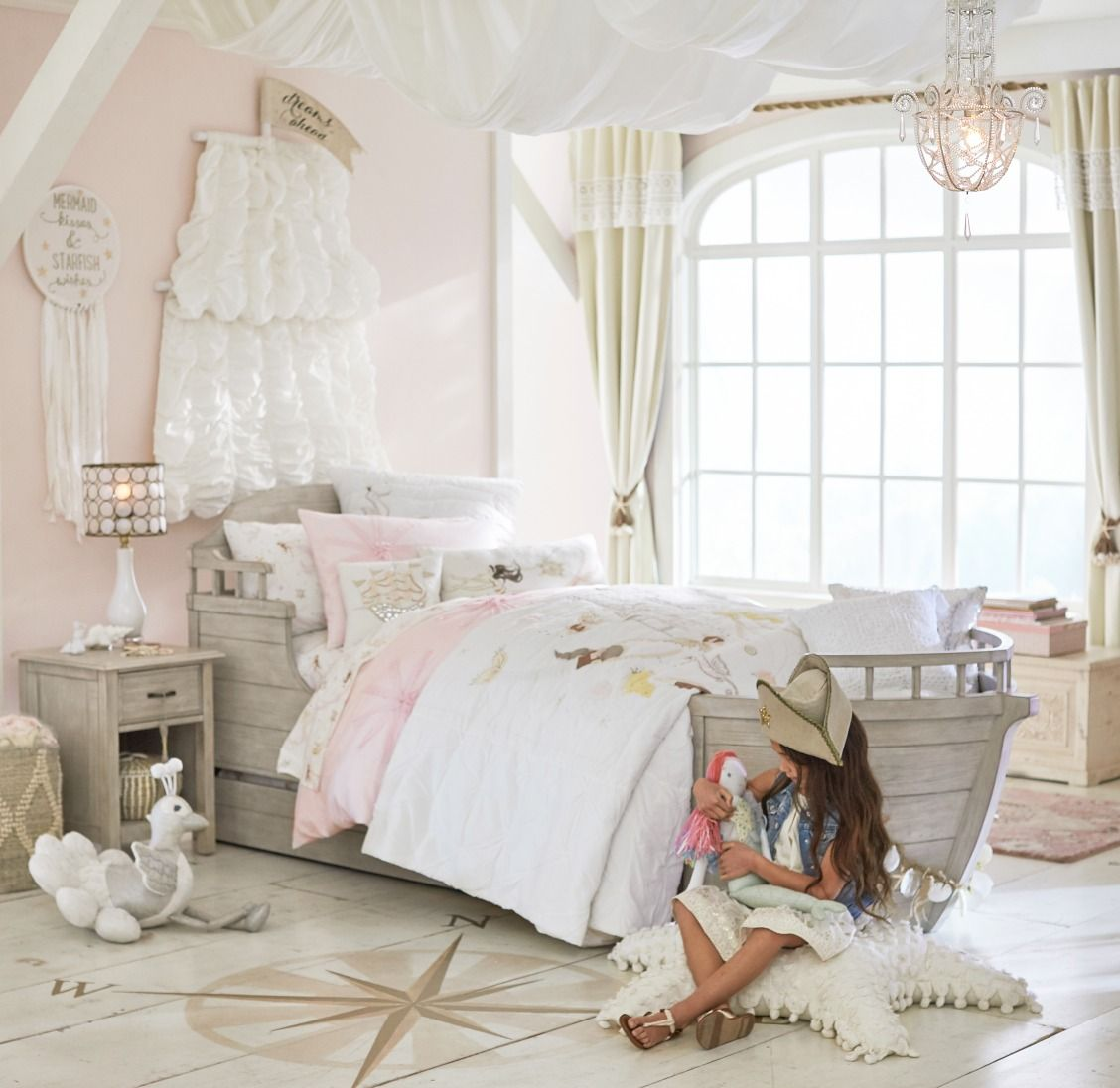 For more little girl bedroom ideas head over to Pottery