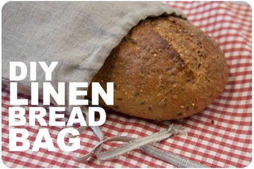 DIY Linen Bread Bag FabricsStorecom The Thread Crafts - Diy bun warmer