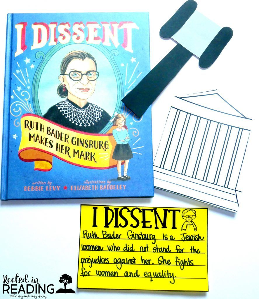 Women's History Month:  I Dissent (a book about Supreme Court Justice Ruth Bader Ginsburg)