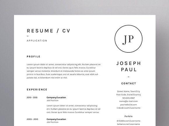 Joseph Paul - Resume\/CV Template by WornOutMedia Co on - professional resume folder