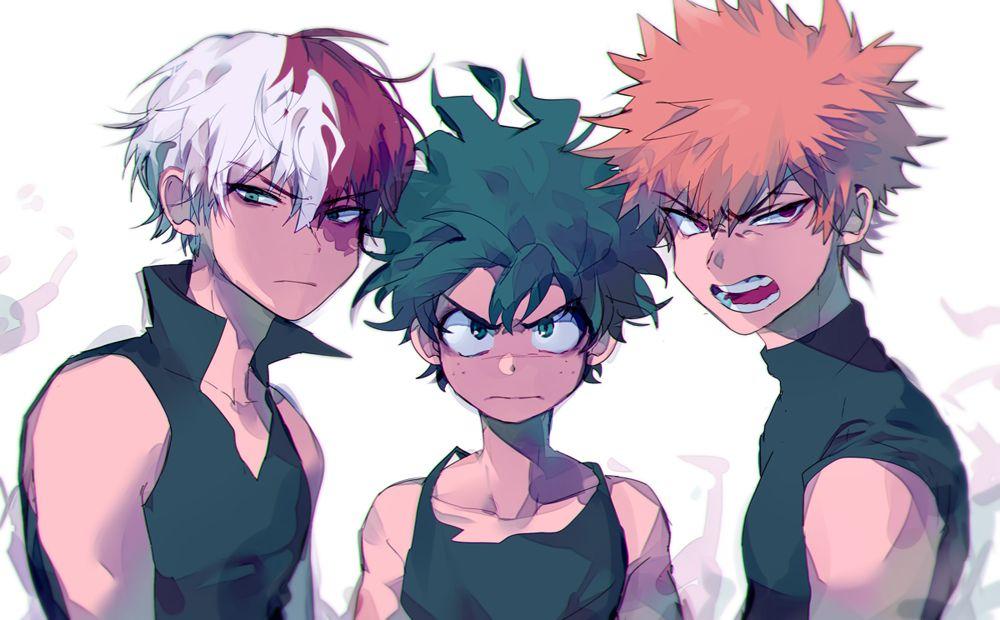 My Hero Academia (Boku No Hero Academia) #Anime #Manga Todoroki, Midoriya, and Bakugou