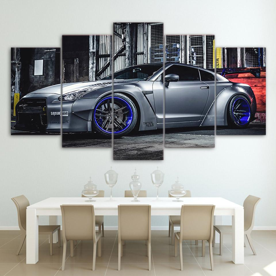 NISSAN GTR R35   HQ 5 Piece Art Canvas #nissan #nissangtr #gtrR35