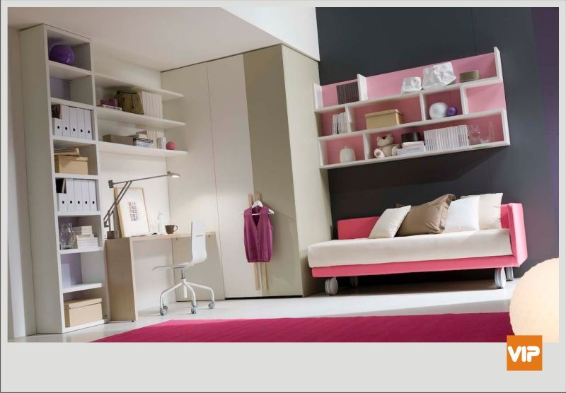Camera per ragazze camere dei mie sogni da adattare alla for Camere da letto singole moderne