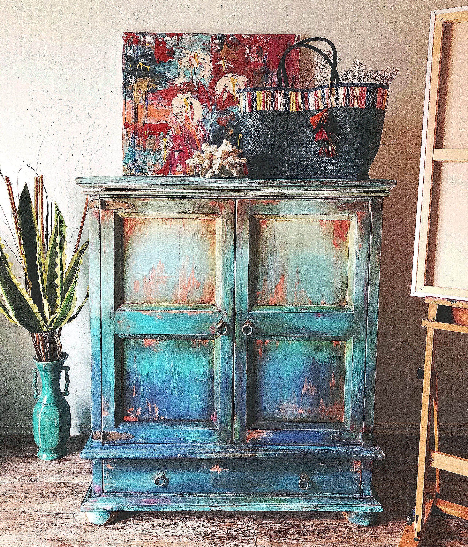 Diy Tutorial Ombre Step By Step Recorded Furniture Makeover Etsy Visit Our Shop Canvas Art Refaire Les Meubles Mobilier De Salon Relooking Meuble
