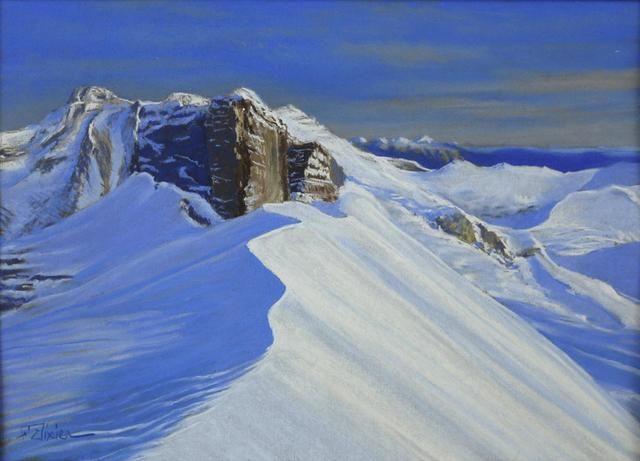 "Fabrice TIXIER ""Le pic Bazillac"" pastel 29.5 x 41.5 cm SBG"
