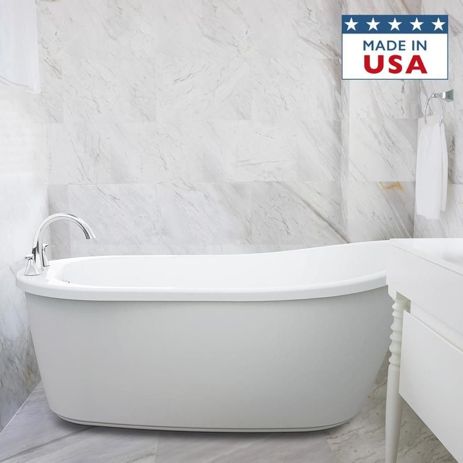 Jacuzzi Piccolo 59 In White Acrylic Oval Right Hand Drain