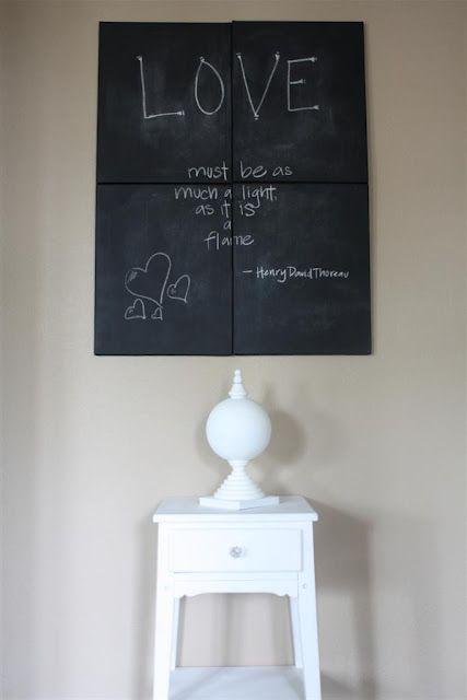 Spray Paint Obsession Chalkboard Canvas Chalkboard Canvas