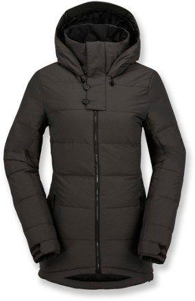 VOLCOM Women s Simi Puff Down Jacket Vintage Black XS 989fc7dc0