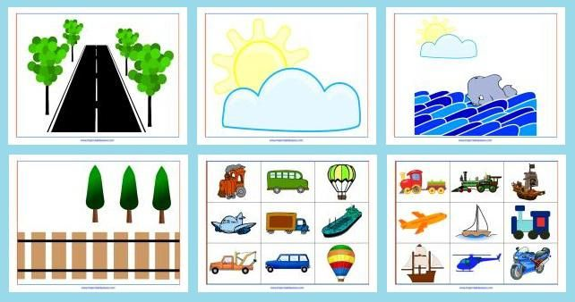 Transportation Printables - Sorting, Matching & More