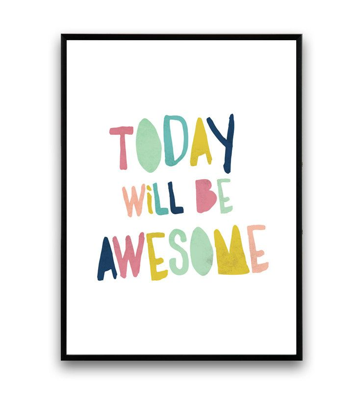 Happy art, Motivational quote, Typography poster, colorful print ...