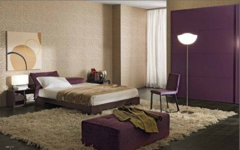 love the purple and khaki color scheme for bedroom no so modern rh pinterest com