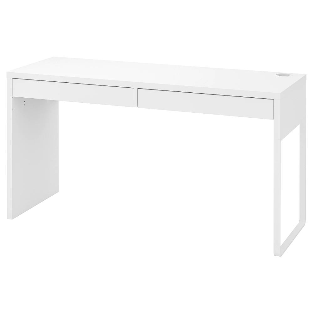 Micke Bureau Blanc 142x50 Cm Ikea Bureau Blanc Bureau Blanc Ikea Caisson A Tiroirs