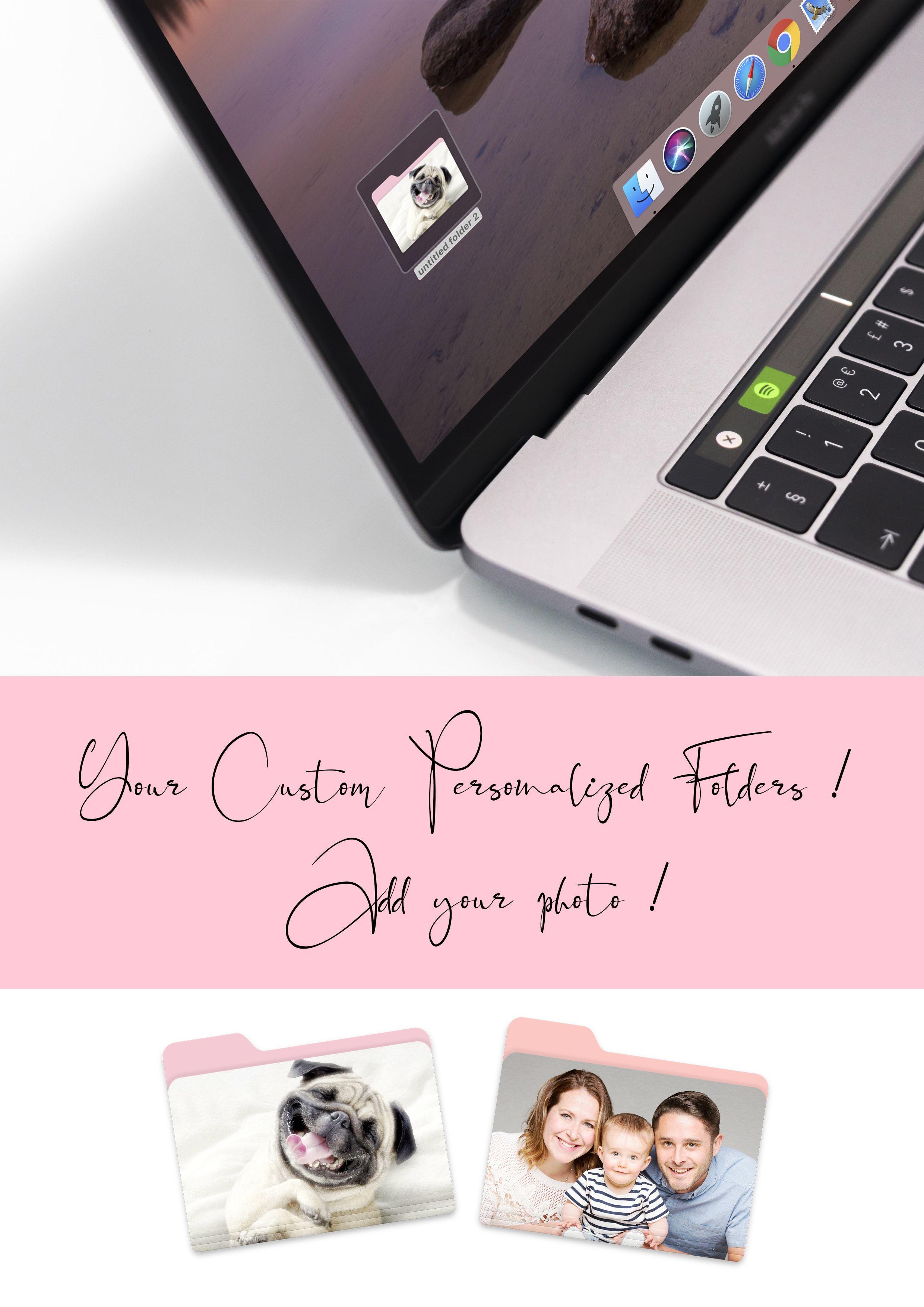 Custom personalized folders for imac add your photo custom