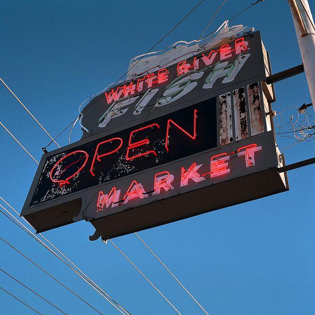 041_365 Fish Market Marketing, Fish, Neon signs