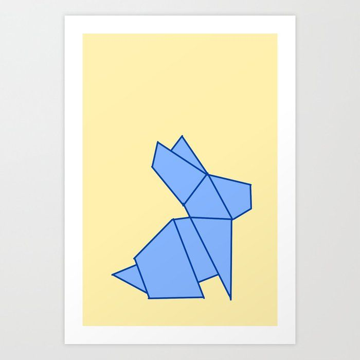 Photo of Origami rabbit Art Print by Jaymie Metz – X-Small