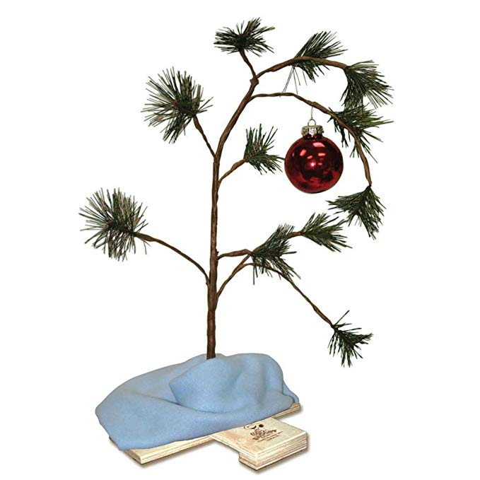Amazon Com Product Works 24 Inch Charlie Brown Christmas Tree With Linus S Blank Charlie Brown Christmas Tree Charlie Brown Tree Indoor Christmas Decorations