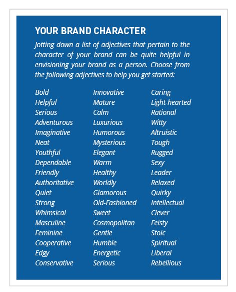 Brand Personality List Of Adjectives Personality Adjectives Brand Character