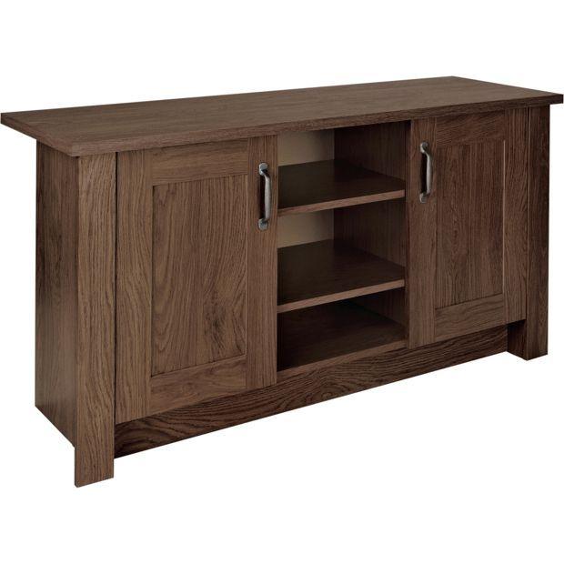Buy collection ohio 2 door tv unit low sideboard walnut - Walnut effect living room furniture ...