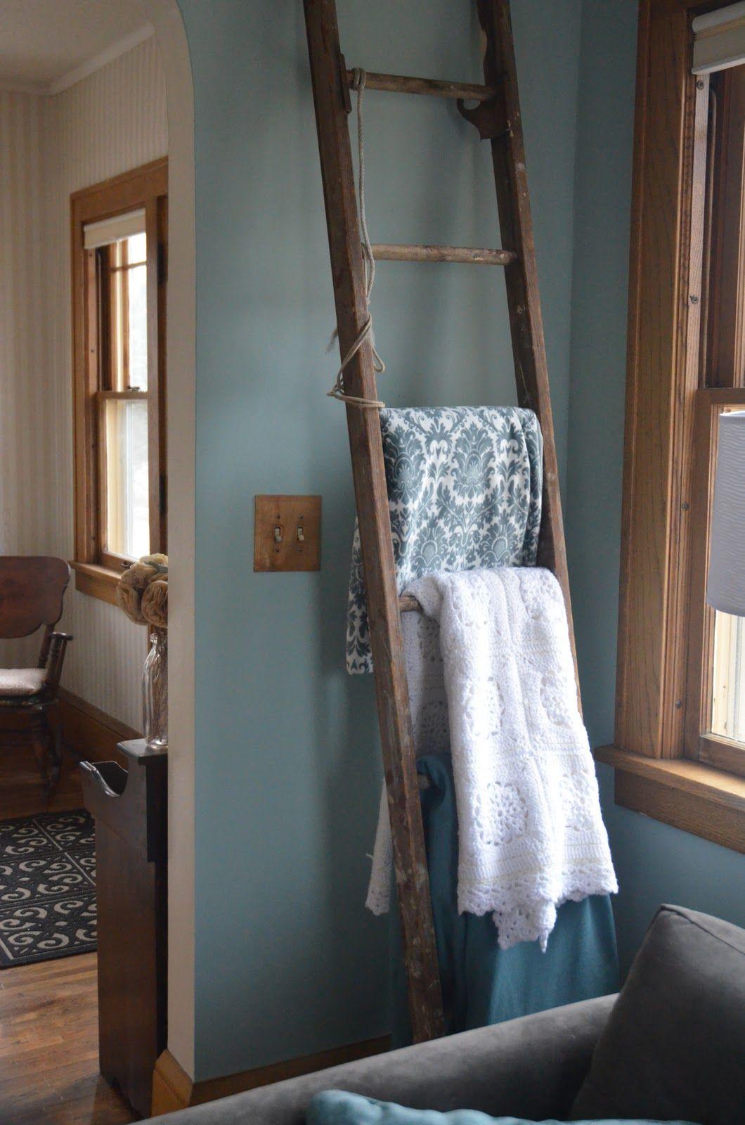 Ladder quilt rack for the home pinterest quilt racks ladder