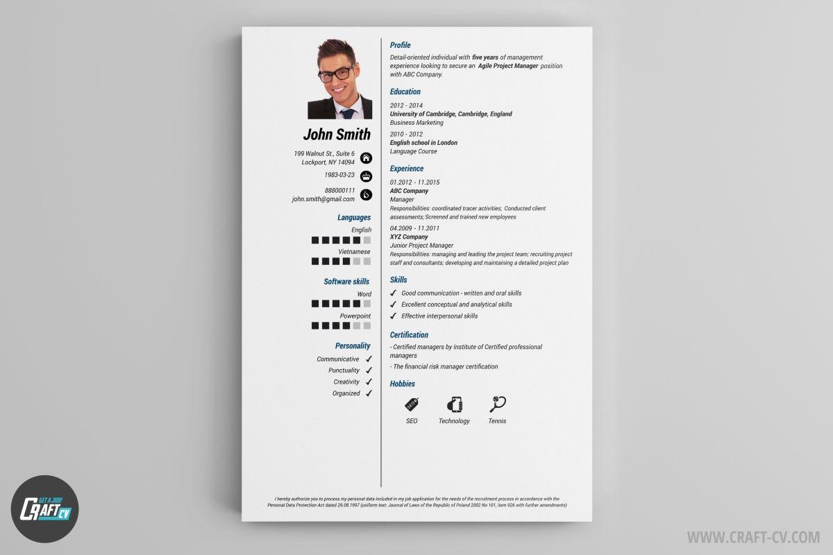 Resume Builder 36 Resume Templates Download Craftcv Cv Maker Cv Examples Creative Cv Template