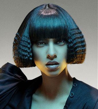 Medium Brown Straight Crimped Weird Avant Garde Ethnic Womens Haircut Black Hairstyles For Women