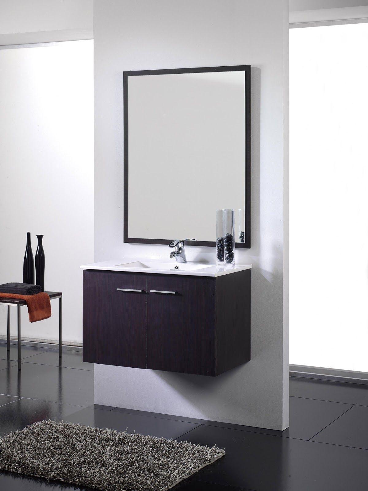 Oferta: Mueble de baño wenge 2 puertas suspendido. Incluye lavabo ...