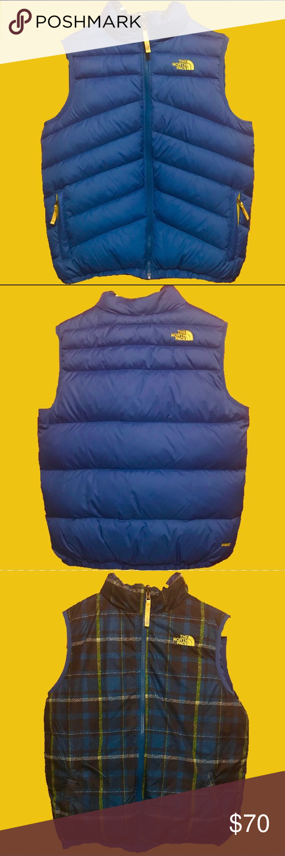 0cad7423bac8 The North Face 550 Reversible Perrito Vest Boy s The North Face Reversible  Perrito Vest Boy s Style - Reverses to print body - Zip-in compatible -  Welted ...