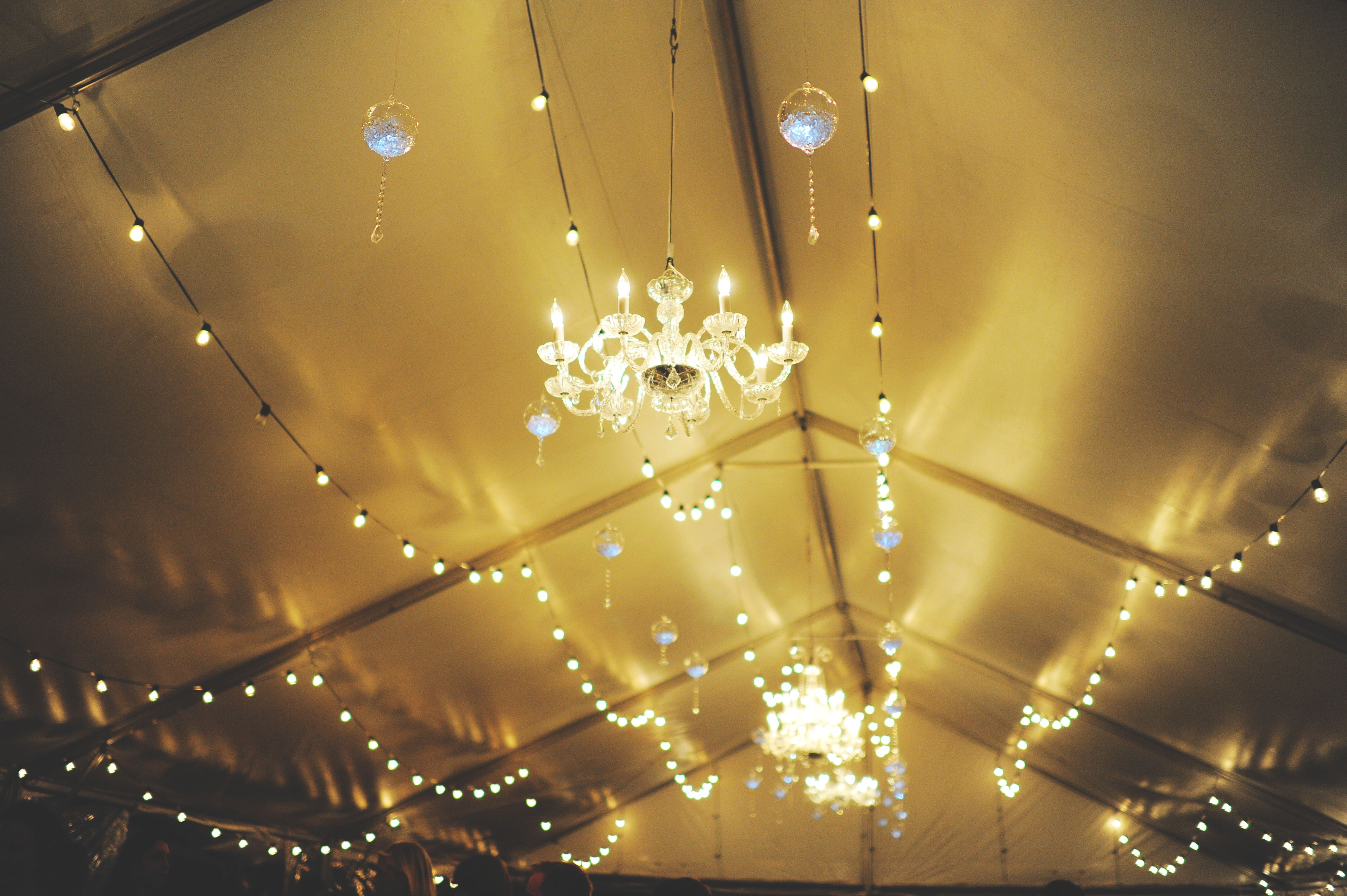 Beautiful Chandeliers By BEYOND Help Create That Extra Bling For A Tent Wedding Reception At Cross