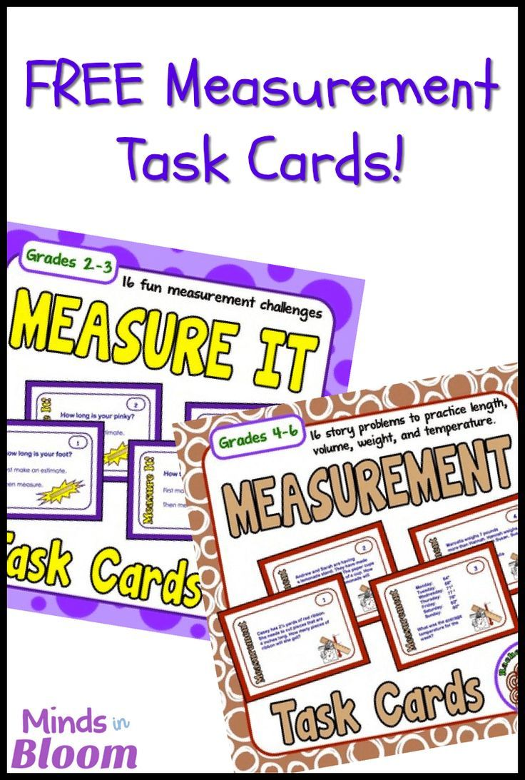 FREE Measurement Task Cards | Students, Math and Math measurement