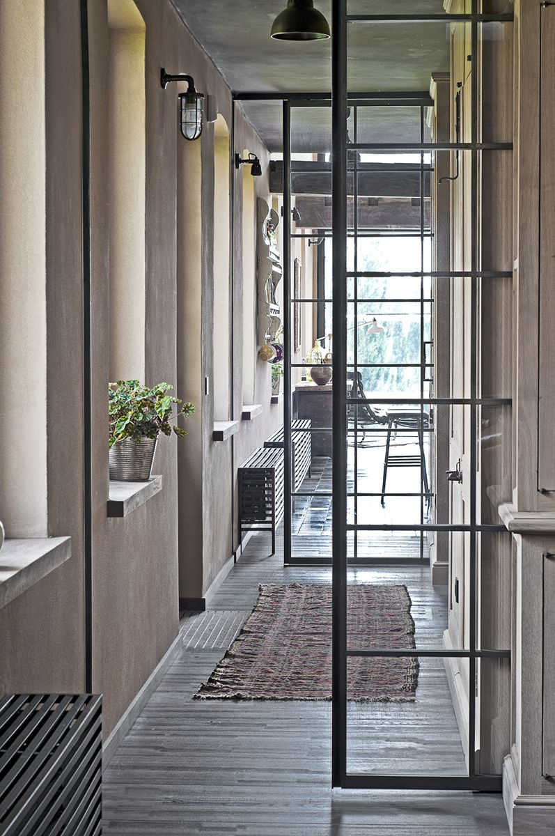 porte coulissante en fer forg avec verre portes idea pinterest. Black Bedroom Furniture Sets. Home Design Ideas
