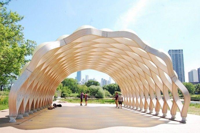 Tortoise Shell Pavilion At Lincoln Park Zoo By Studio Gang Timber Structure Pavilion Design Pavilion