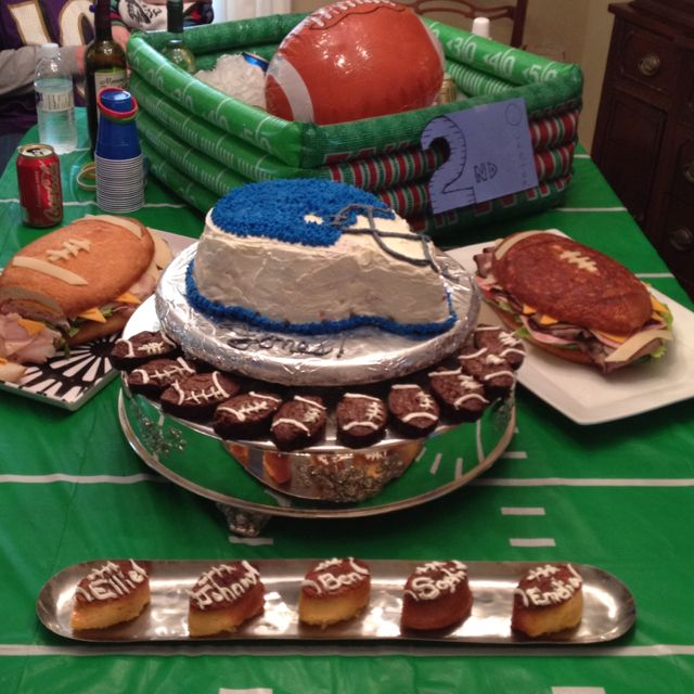Football Themed First Bday Party. Homemade Football