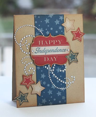 Fourth Of July Greeting Cards Handmade Ideas Cards Handmade Independence Day Card Card Craft