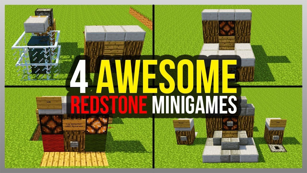4 awesome minecraft redstone minigames tutorials included 4 awesome minecraft redstone minigames tutorials included youtube baditri Images