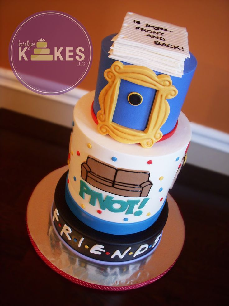 30 Awesome Friends Tv Show Themed Birthday Cakes