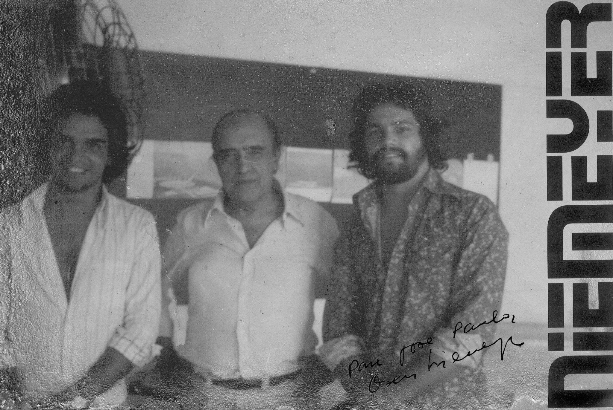 José Paulo Narciso da Rocha Júnior Oscar Niemeyer e José Castelo Branco Khoury em membros observadores no Escritório de Oscar Niemeyer na década de 70