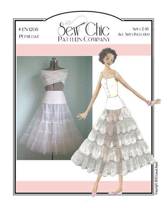 Crinoline Petticoat Sewing Pattern by Sew Chic Pattern Company ...